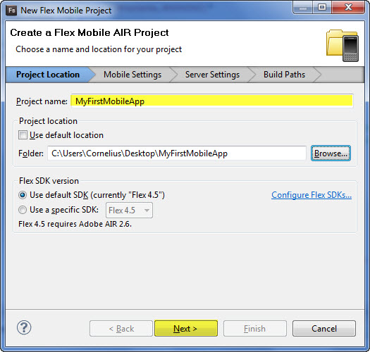 Creating Your First Mobile App with Flash Builder 4 5